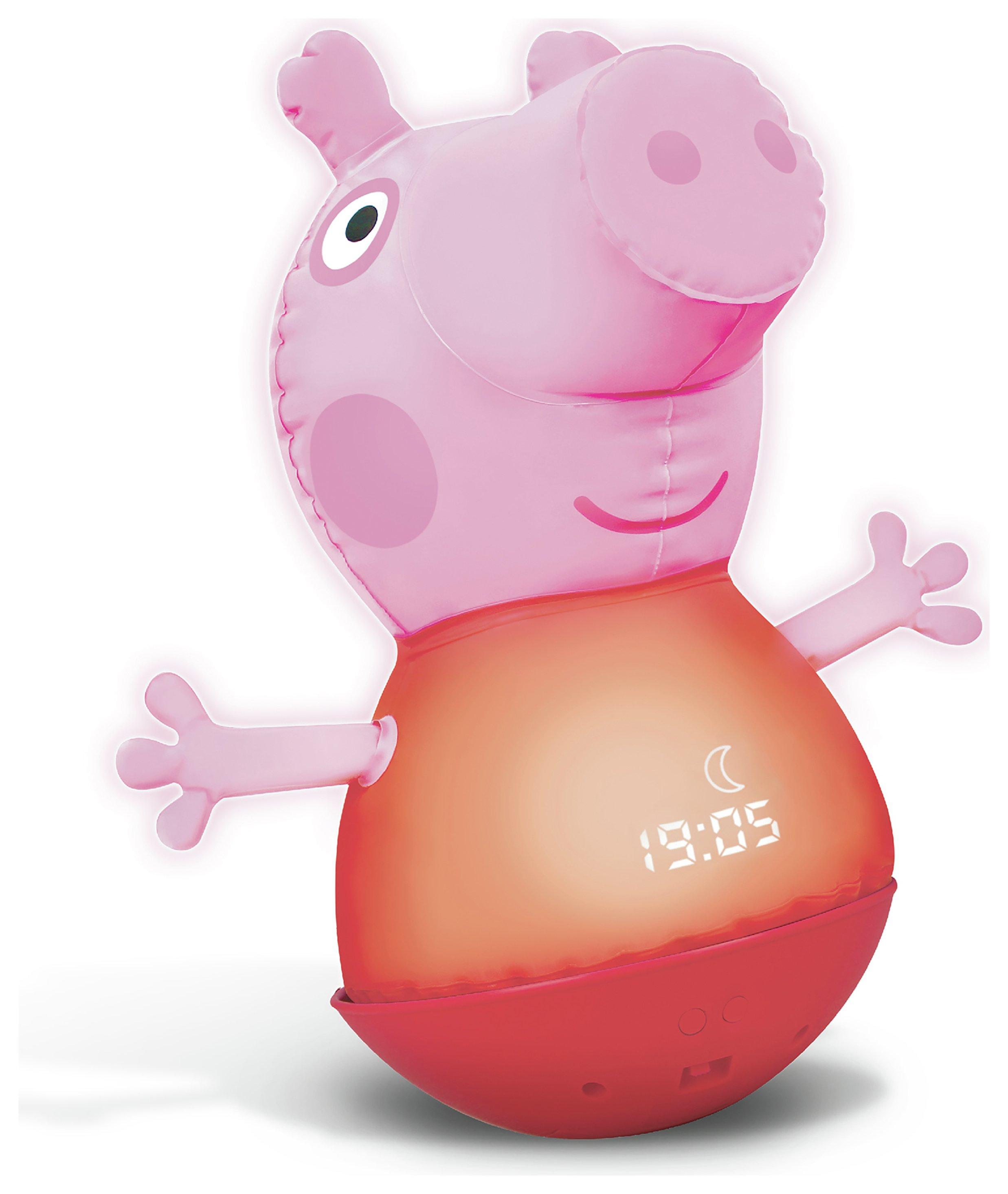 peppa pig inflatable night light sleep trainer.
