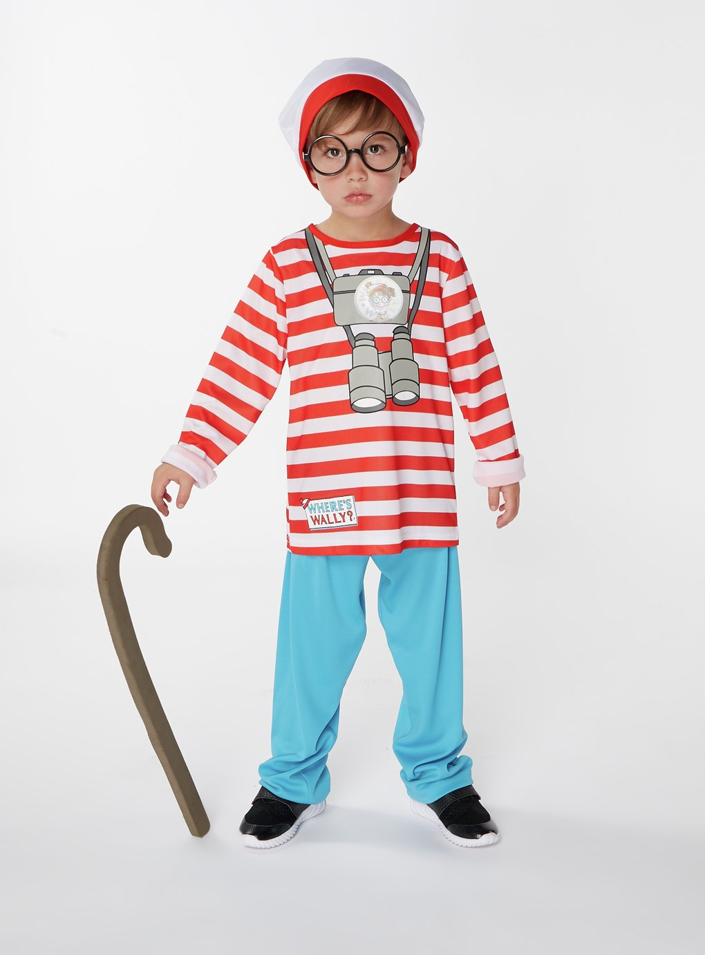 Where's Wally Fancy Dress Costume - 9-10 Years