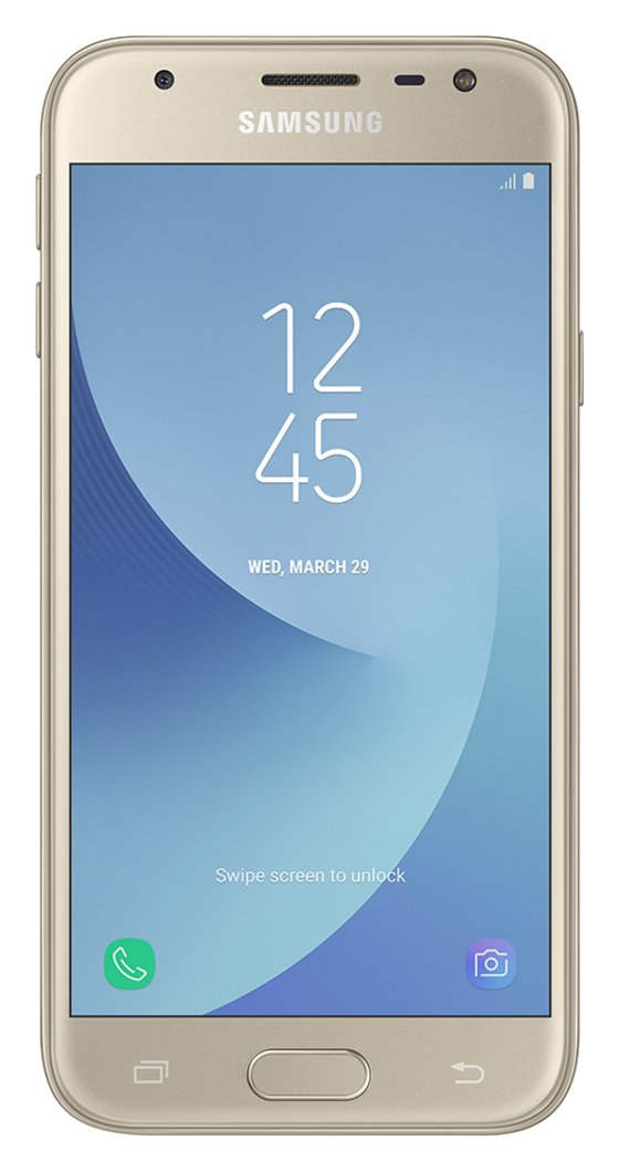 SIM Free Samsung Galaxy J3 2017 16GB Mobile Phone - Gold