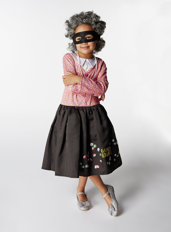 Image of Gangsta Granny Fancy Dress Costume - 7-8 Years