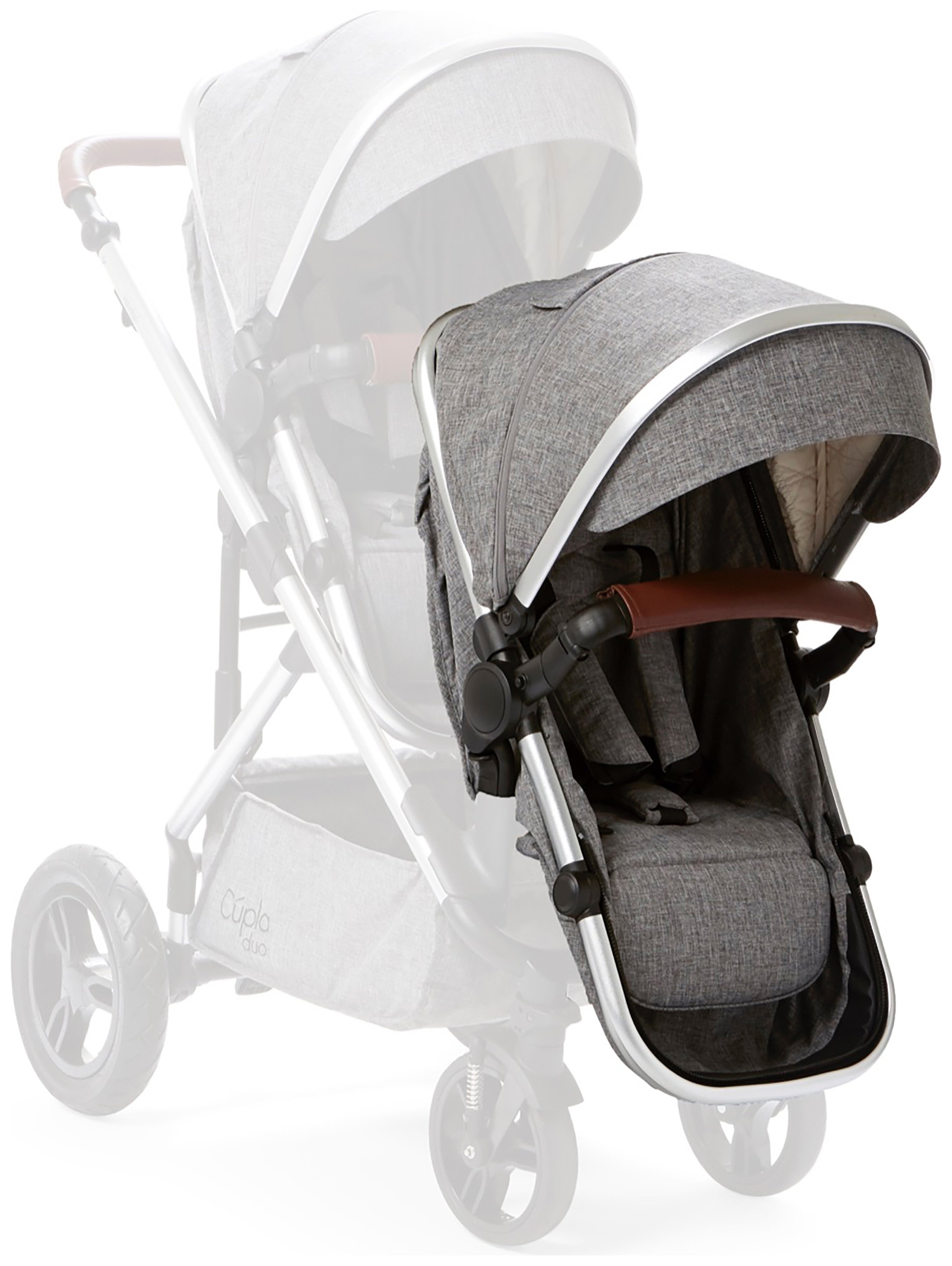 Image of Cupla Duo Second Seat & Front Adapter - Grey