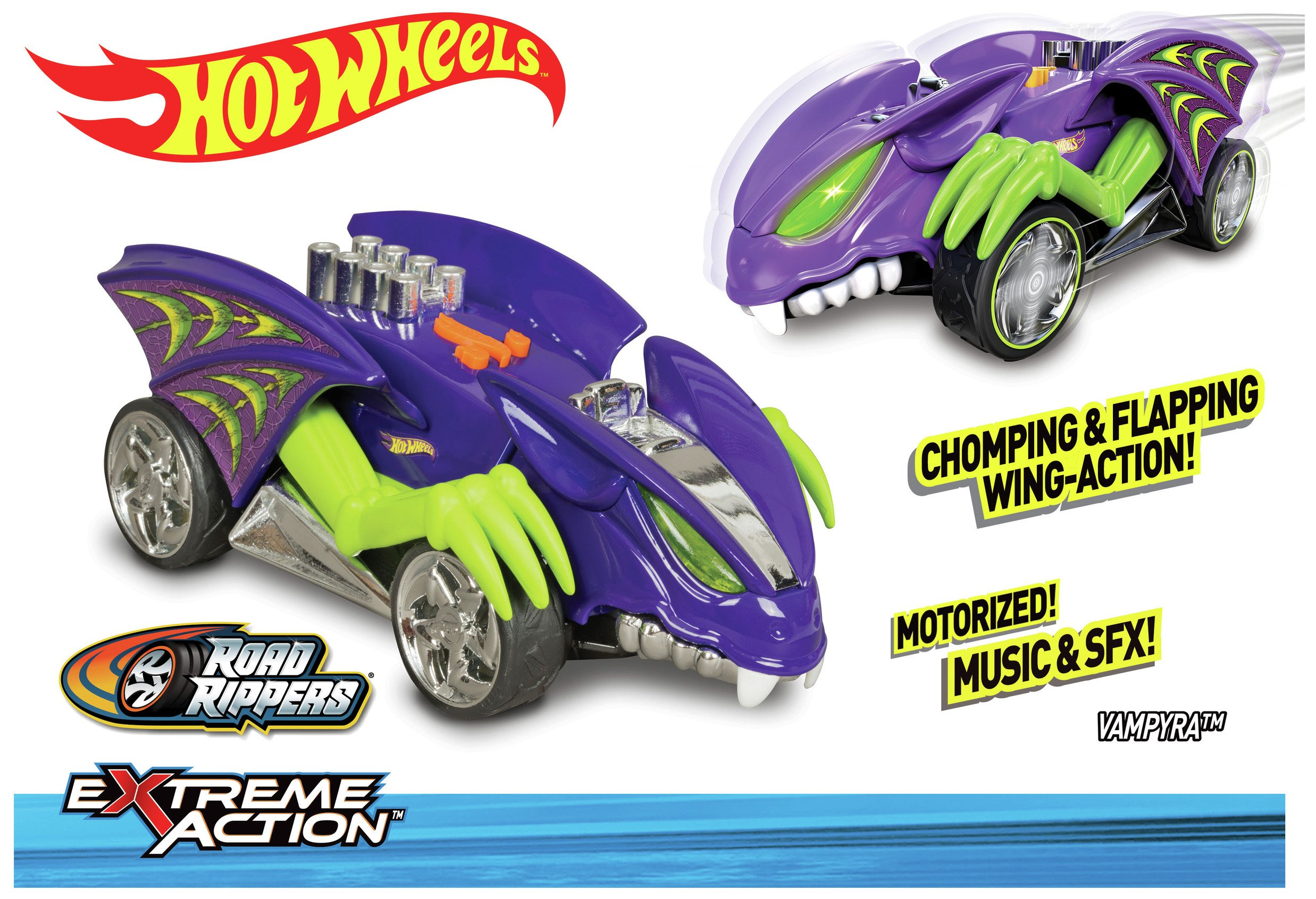 Image of Hot Wheels Exteme Action Vampyra Car.