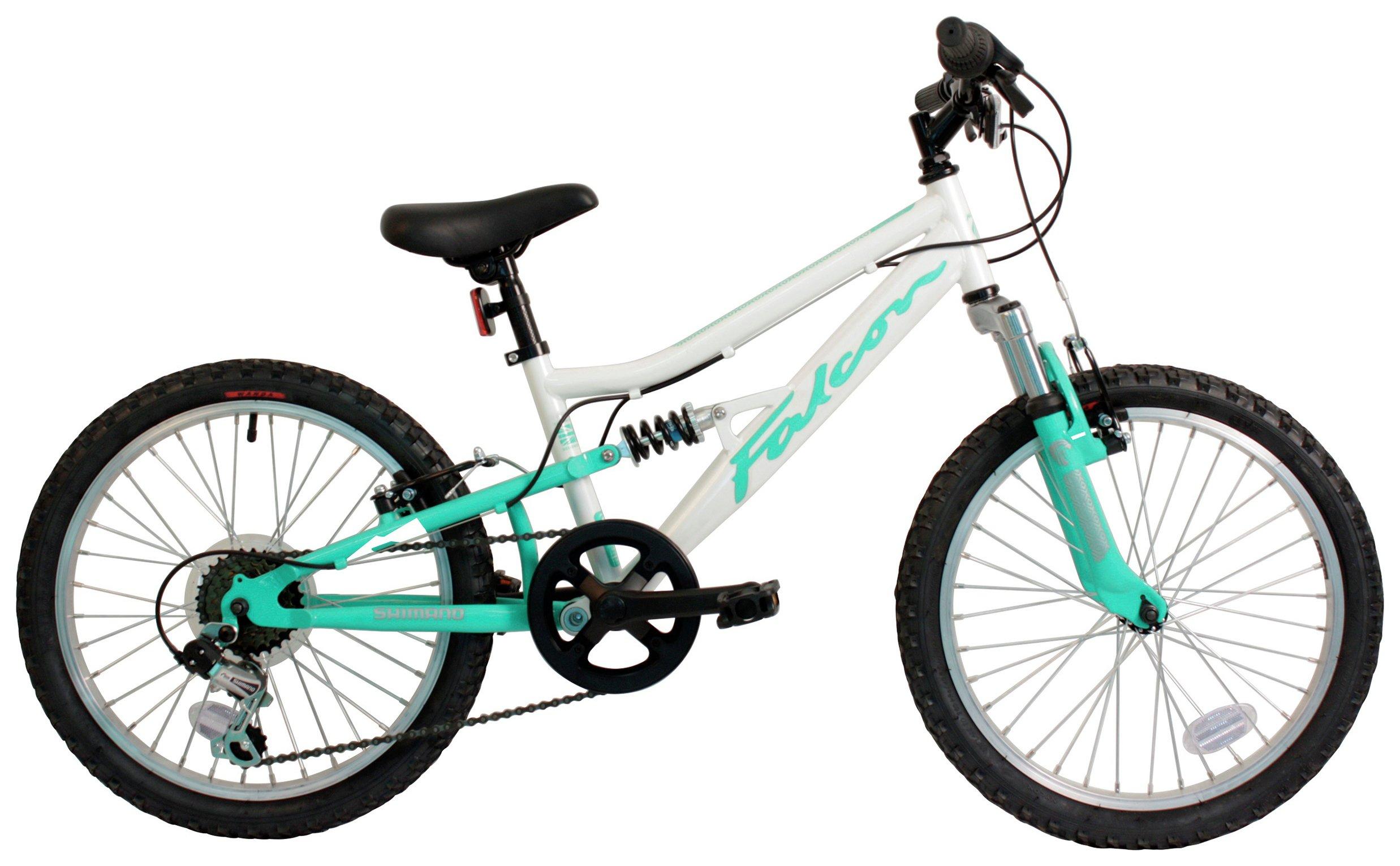 Image of Falcon Emerald Kids 20 Inch Full Suspension Bike