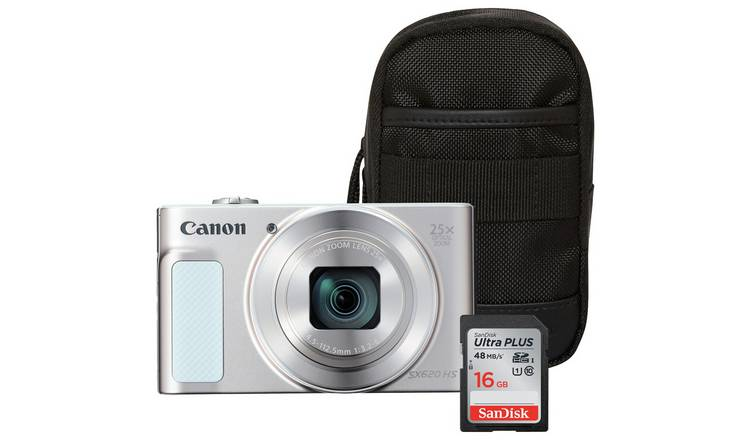 Canon PowerShot SX620 HS 20MP 25x Zoom Camera Bundle - White