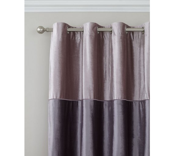 Buy Catherine Lansfield Velvet Band Curtains