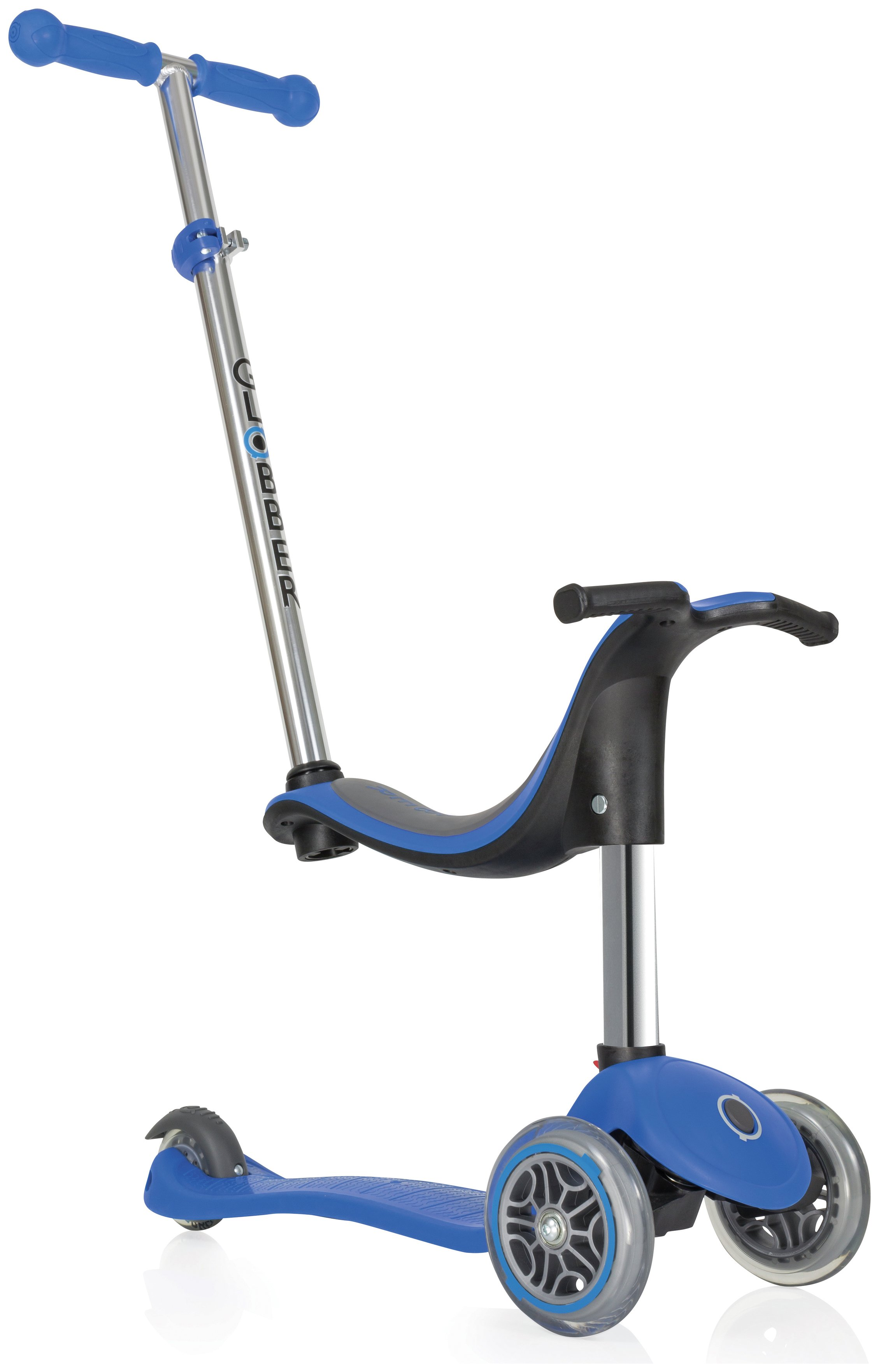 Globber Evo 4-in-1 3 Wheel Scooter - Navy Blue