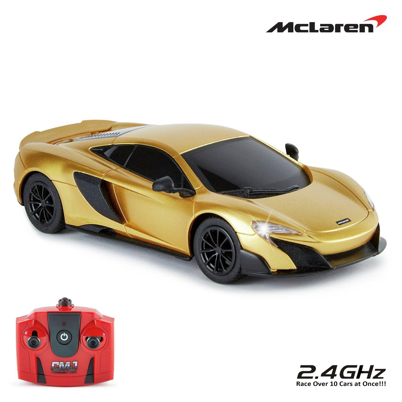mclaren 675lt rc 1:24 car - gold (7479366) | argos price tracker