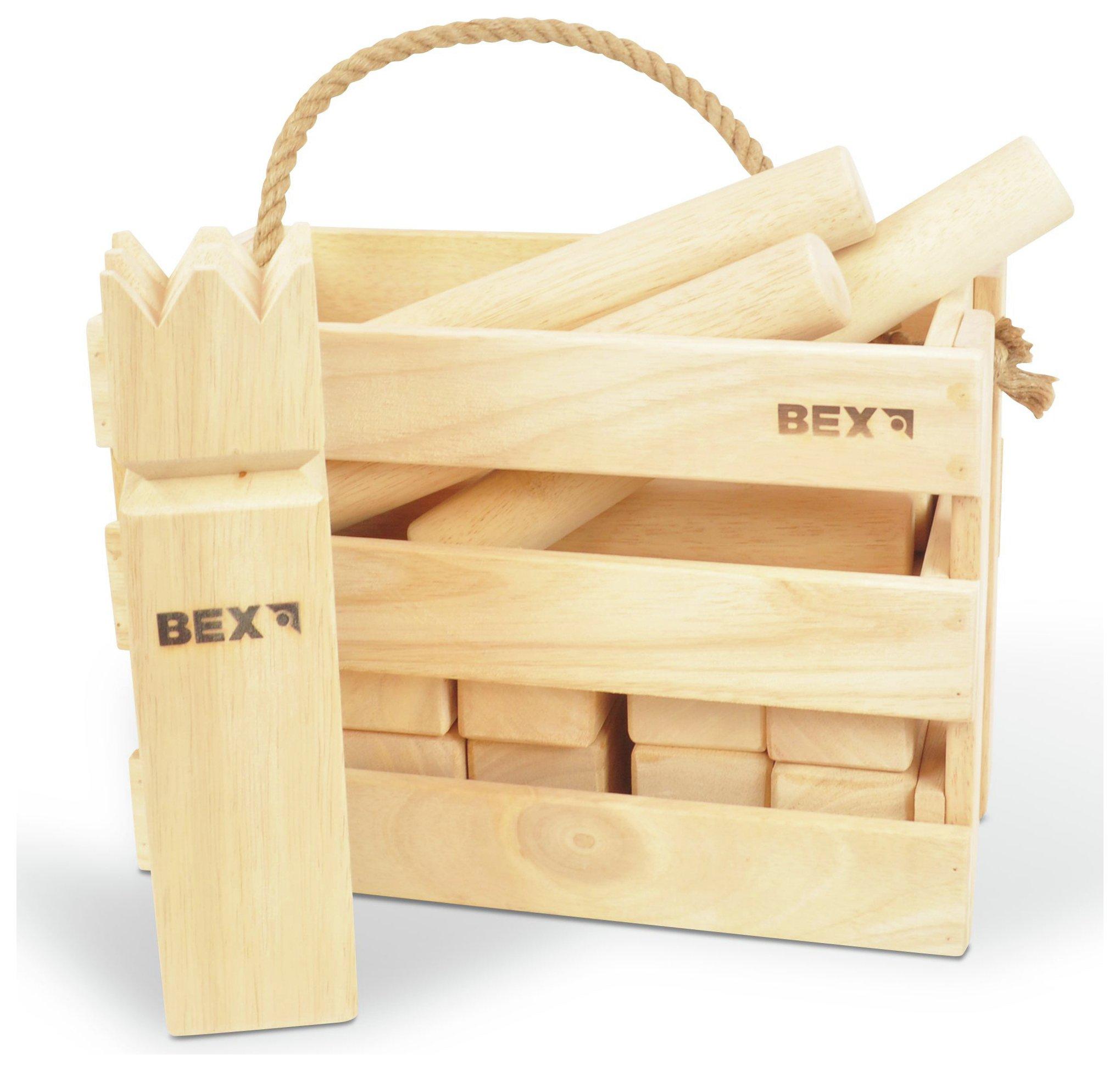 Image of Bex Original Kubb Game in Wooden Box.