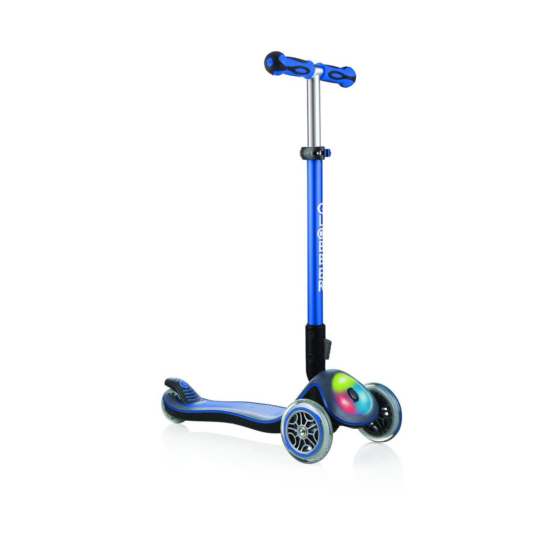 Globber Elite Lights 3 Wheel Scooter - Navy
