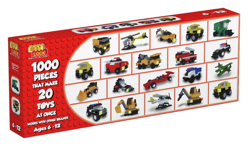 Image of Best-Lock Construction Toys 20 Model Pack - 1000 Pieces