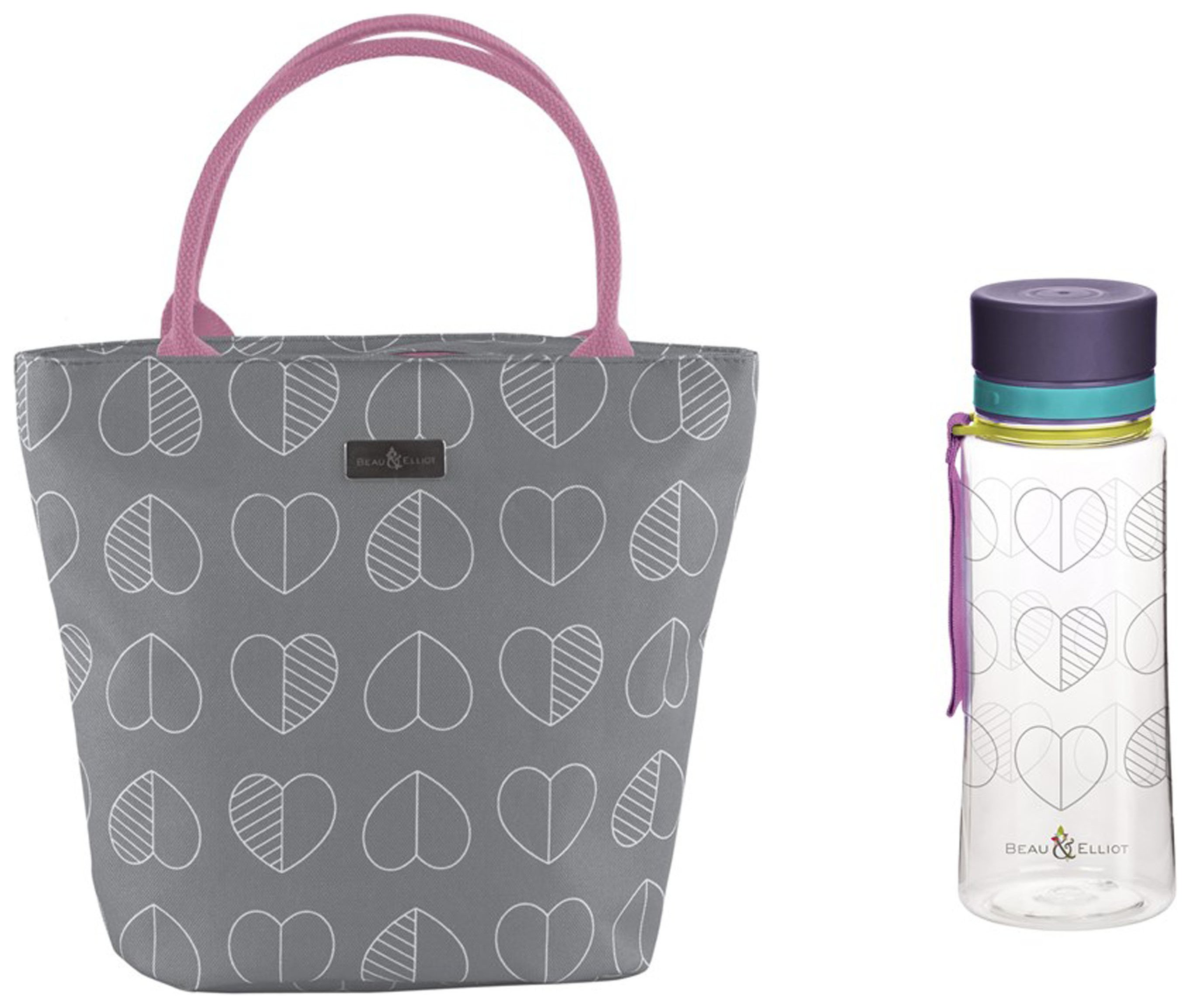 Image of Beau and Elliot Confetti Lunch Tote and Bottle - Slate.