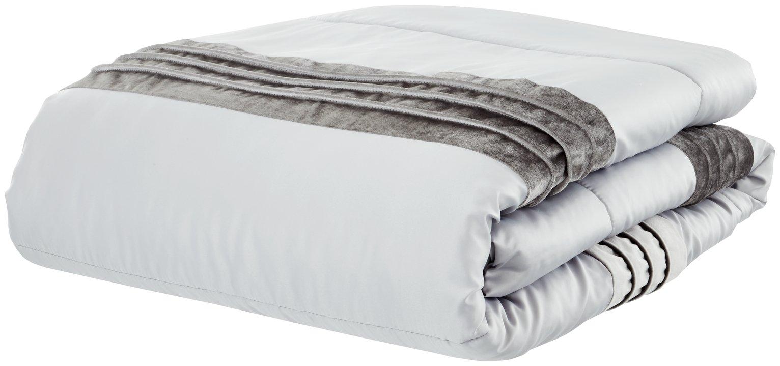 catherine lansfield corded velvet bedspread  grey