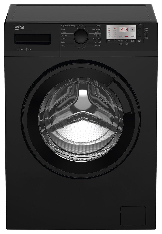 Beko WTG941B1B 9KG 1400 Spin Washing Machine - Black.