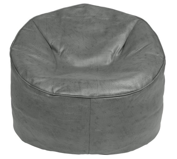 Buy Argos Home Faux Leather Bean Bag Chair Grey Beanbags Argos