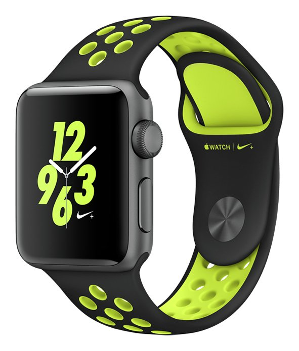 Apple Watch Nike 38mm Grey Alu Case with BlackVolt Band. cheapest retail price