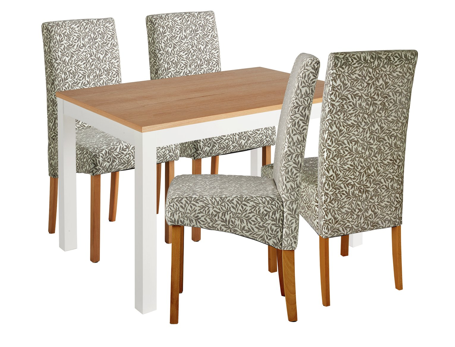 Image of Collection Clifton Two Tone Table & 4 Chairs - Floral