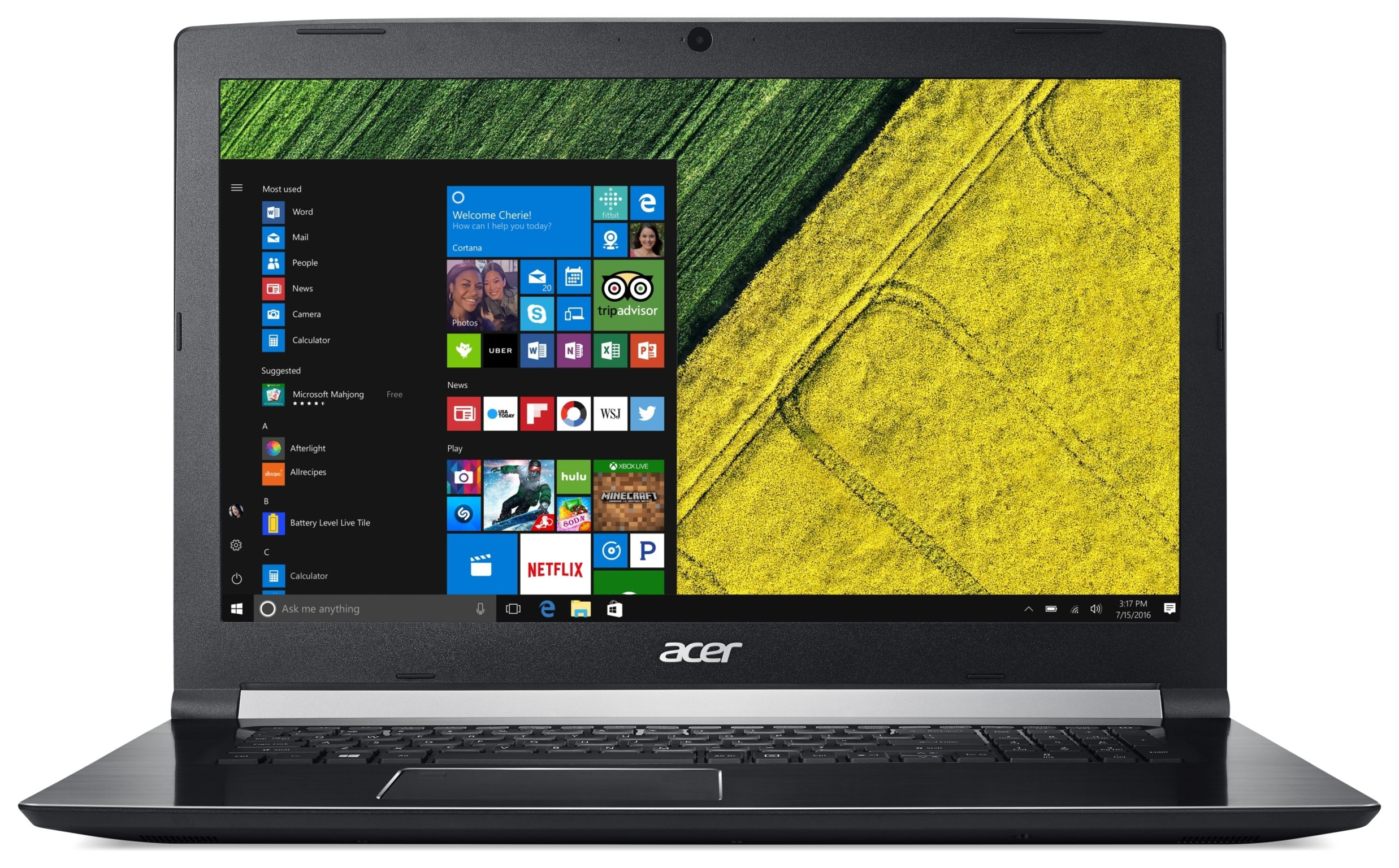 Image of Acer Aspire 7 15.6 Inch i5 8GB 1TB 128GB Laptop - Black