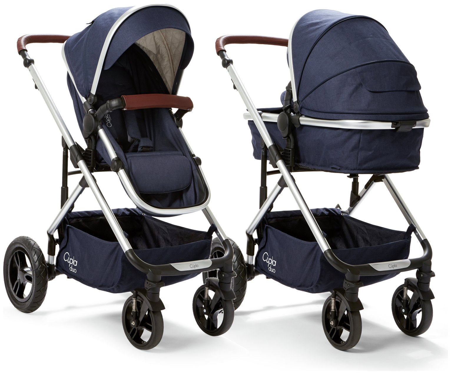 Image of Cupla Duo 2 in 1 Pushchair Rain Cover - Navy
