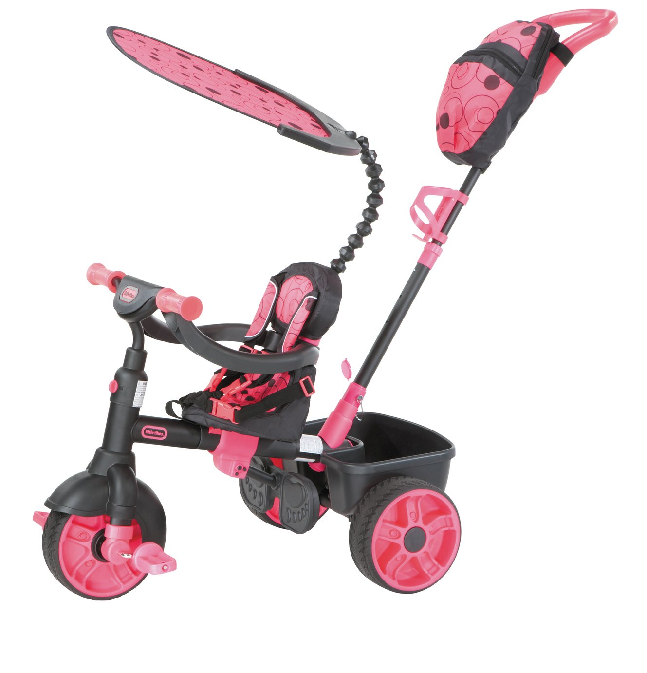 Image of Little Tikes 4-in-1 Deluxe Trike - Neon Pink
