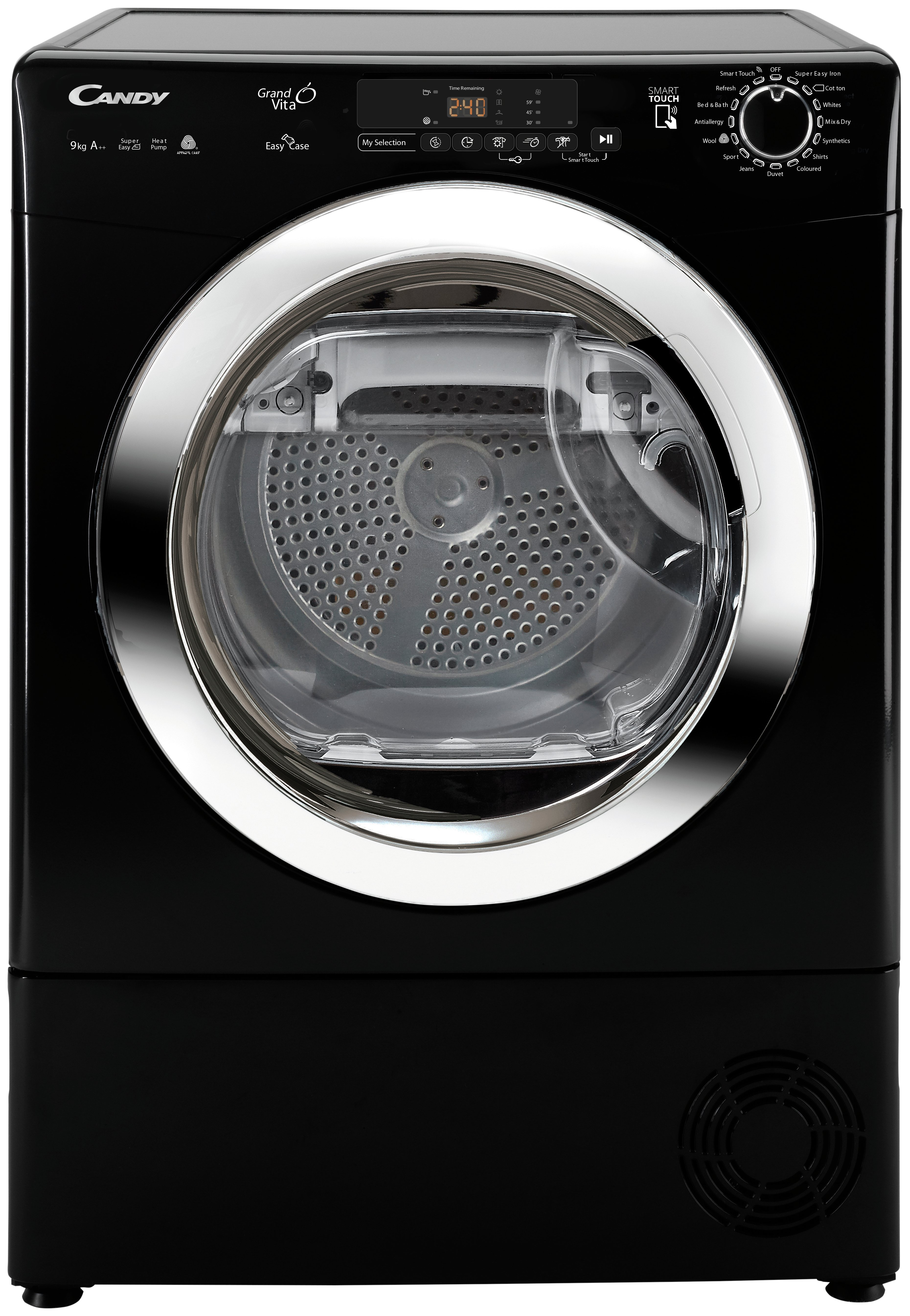 'Candy Gvs H9a2dceb 9kg Heat Pump Tumble Dryer - Black