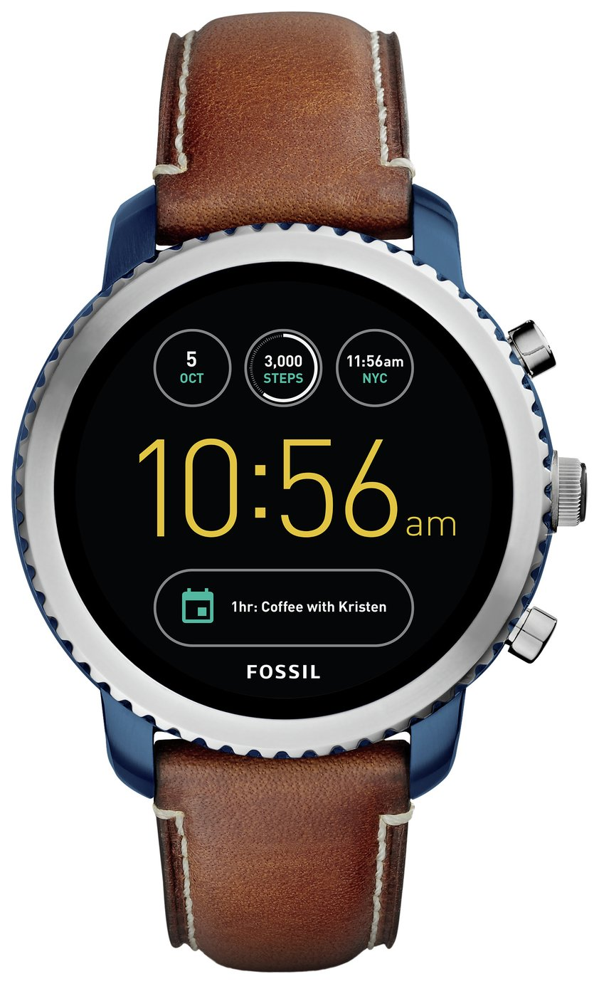 Image of Fossil Q GEN 3 Smart Watch - Q Explorist Navy Leather