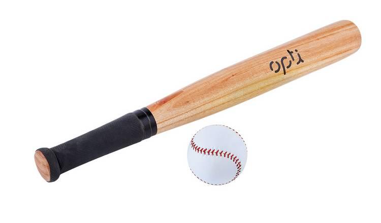 Buy Opti Wooden Bat And Ball Set 26 Inch Baseball And