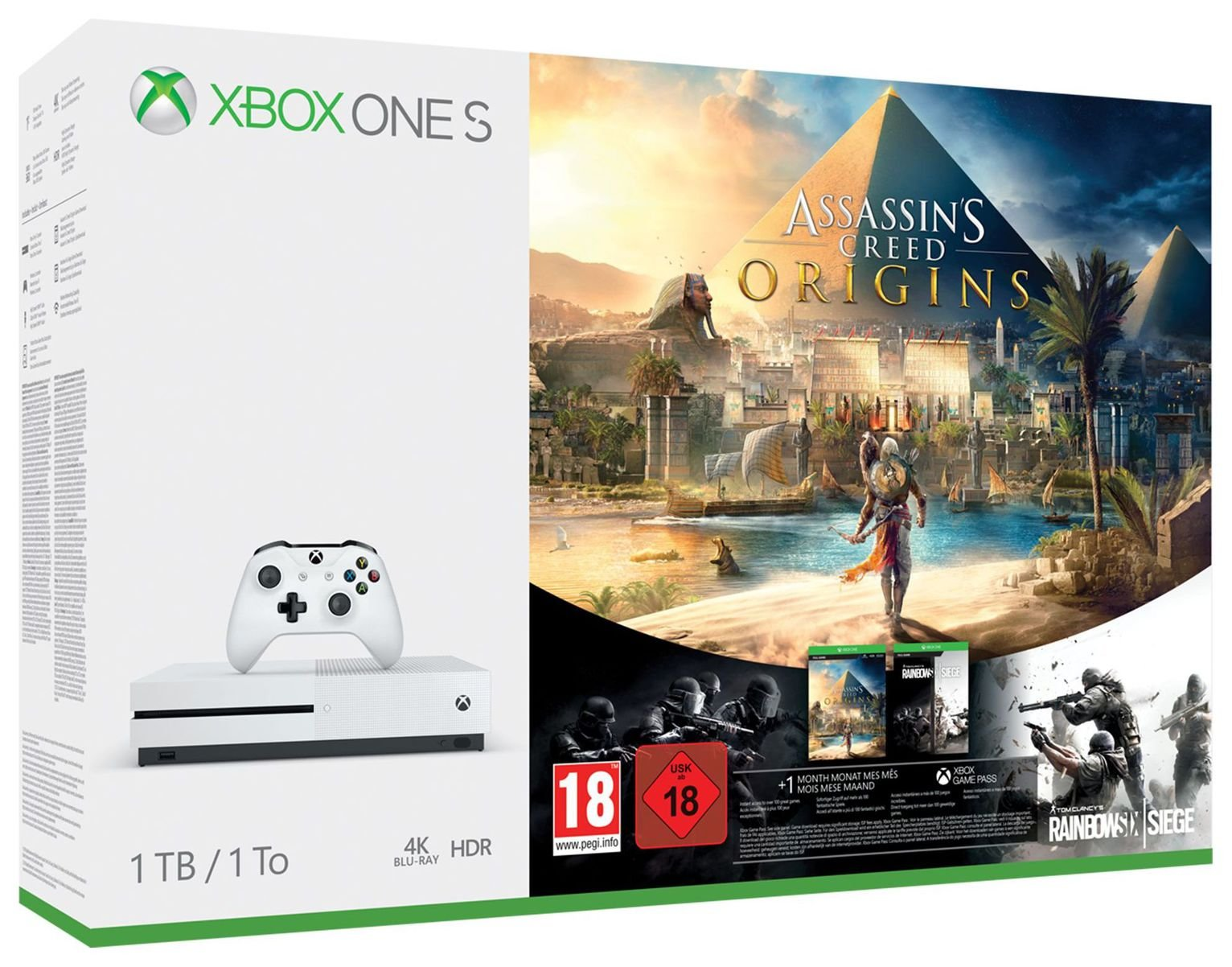 Xbox One S 1TB Assassins Creed Origins Bonus Bundle