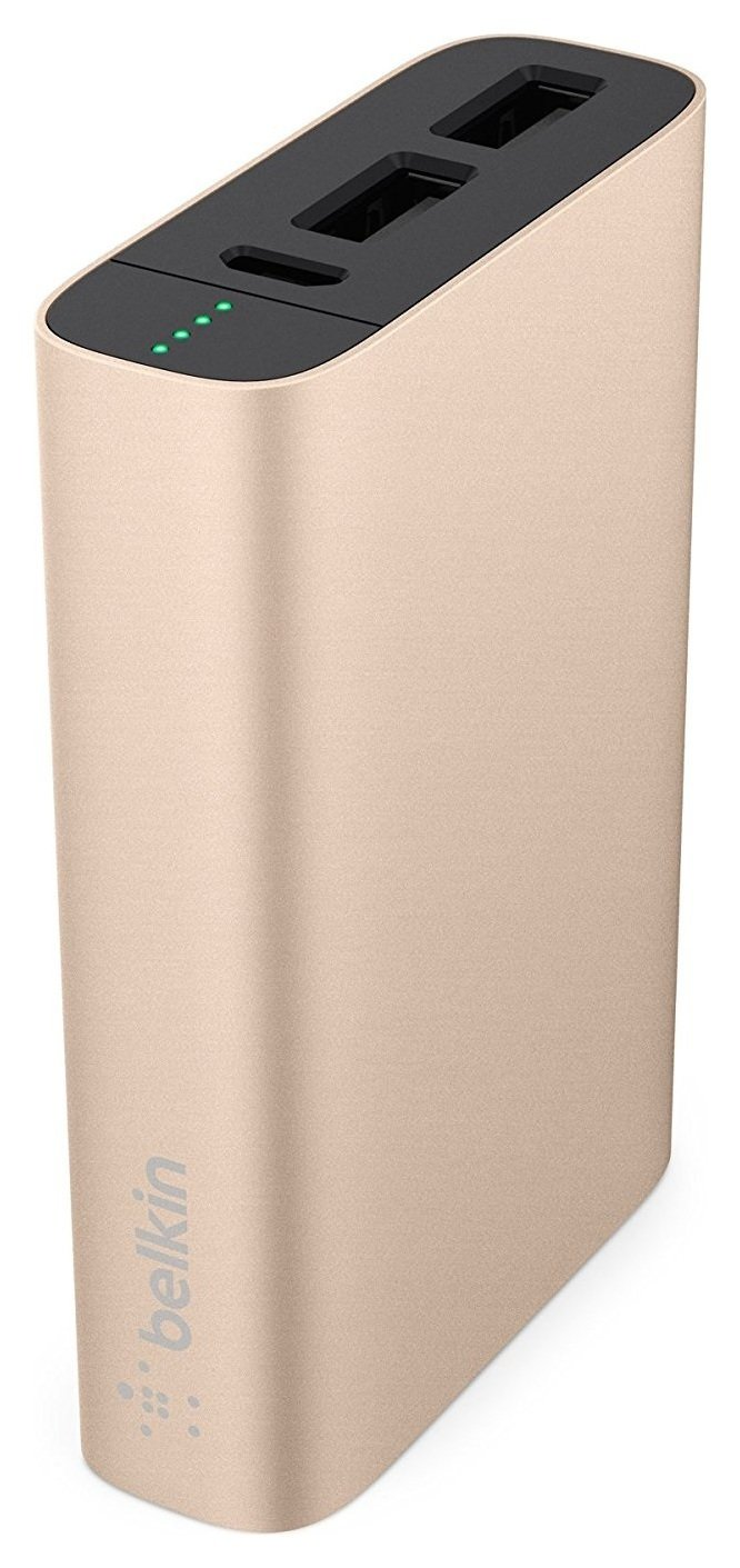 Image of Belkin 6600 Mixit Metallic Power Bank - Gold