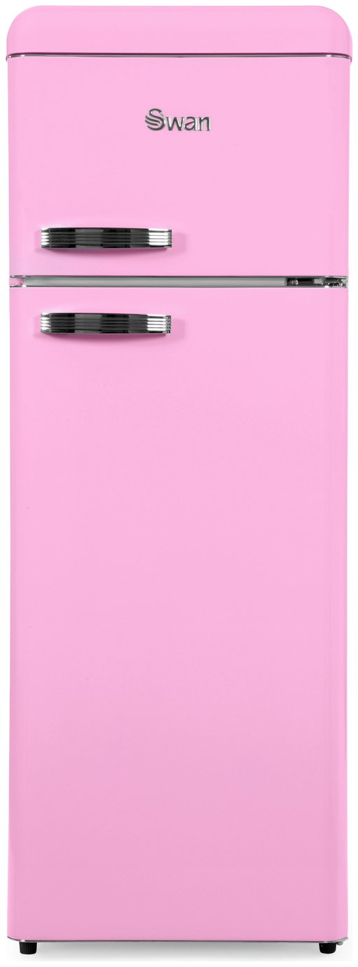 Swan SR11010PN Freestanding Fridge Freezer - Pink