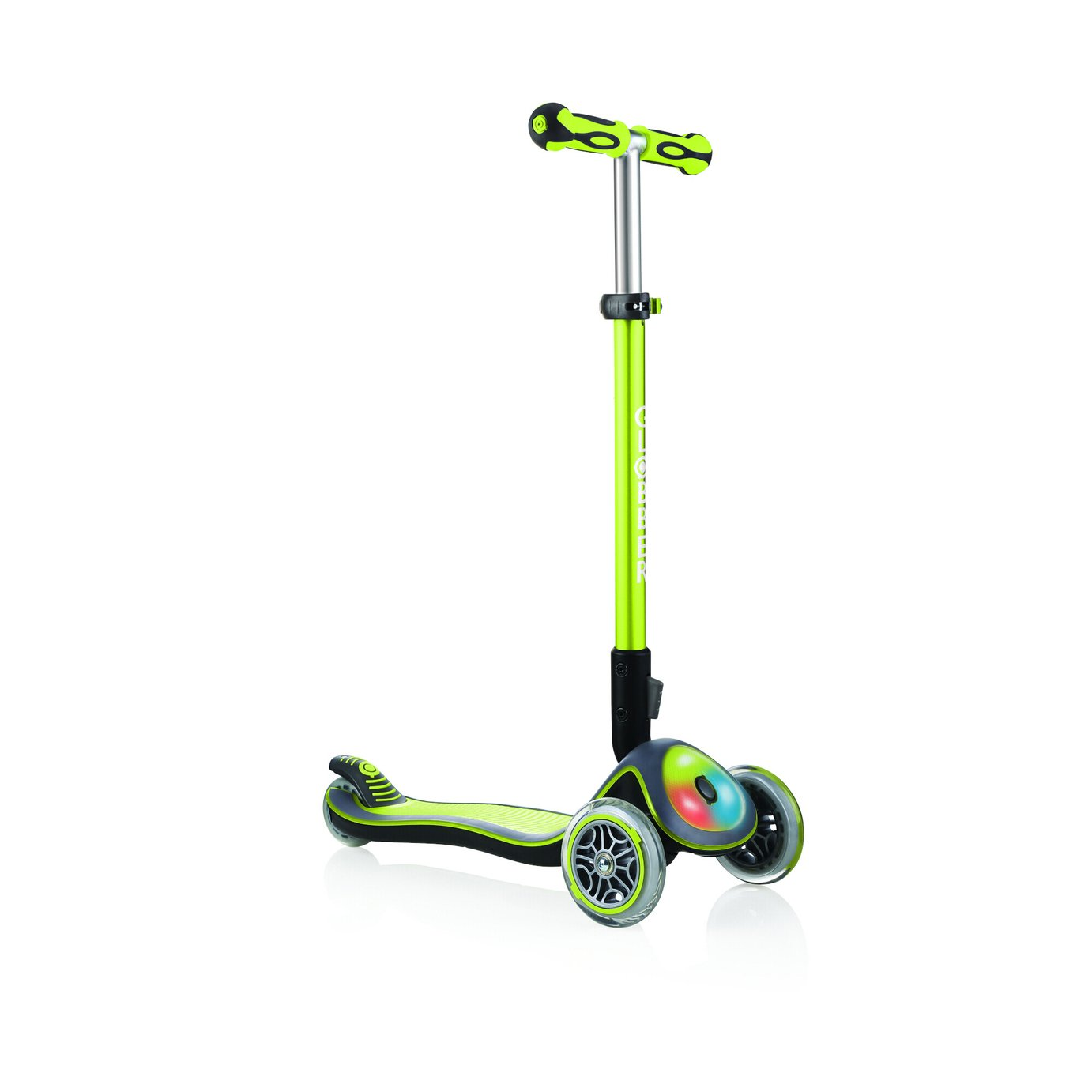 Globber Elite Lights 3 Wheel Scooter - Lime Green