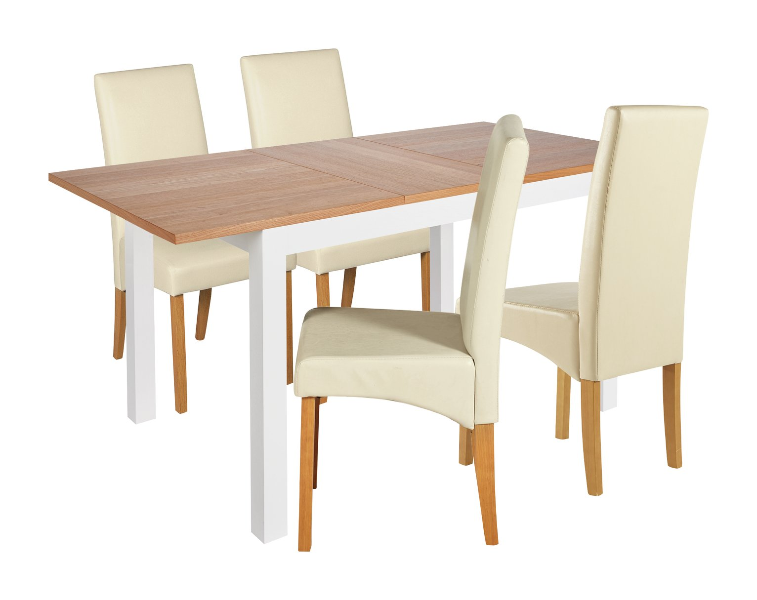 Collection Clifton Extendable Table & 4 Chairs - Cream