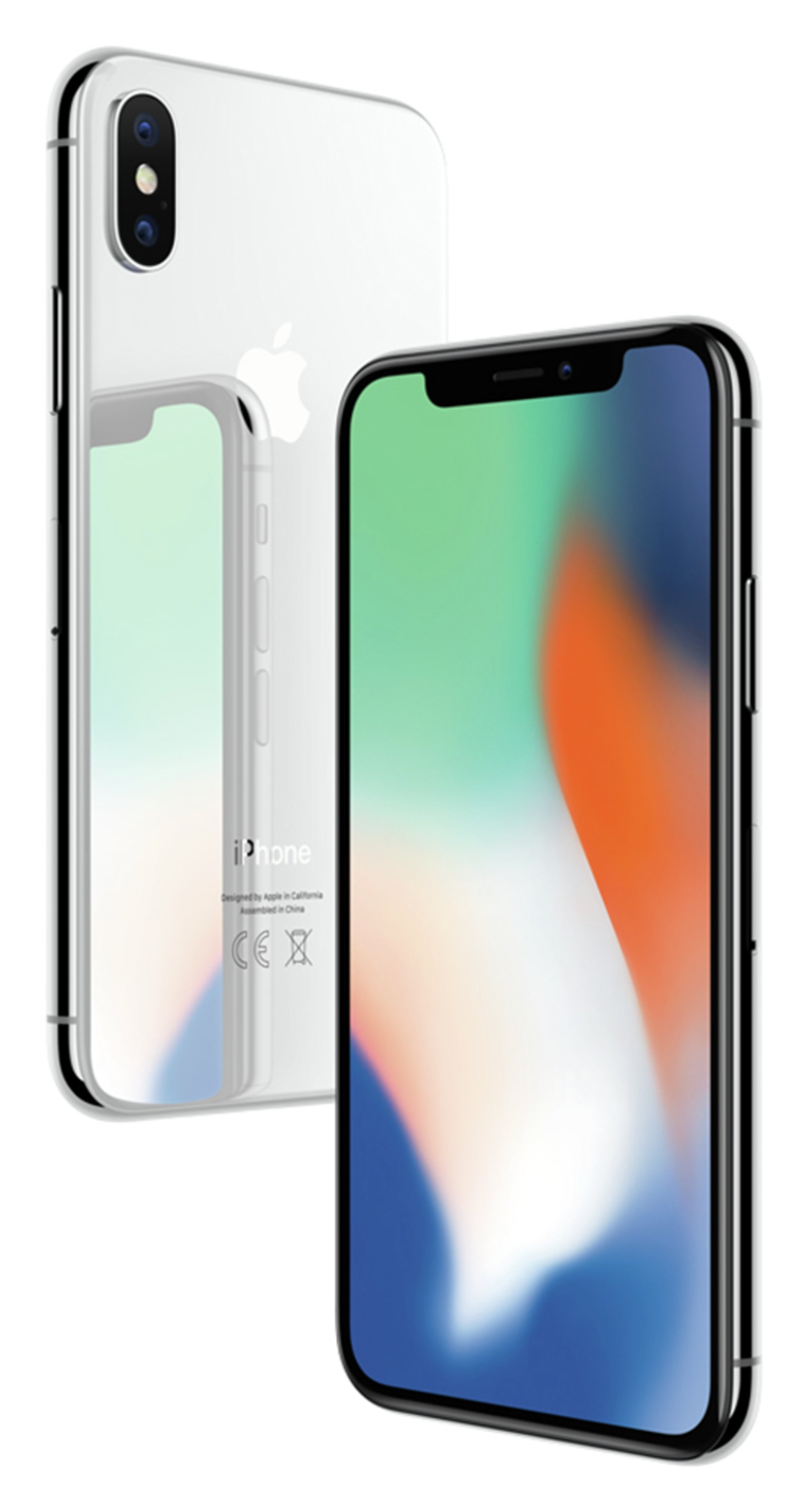 Apple Sim Free iPhone X 64GB Mobile Phone - Silver