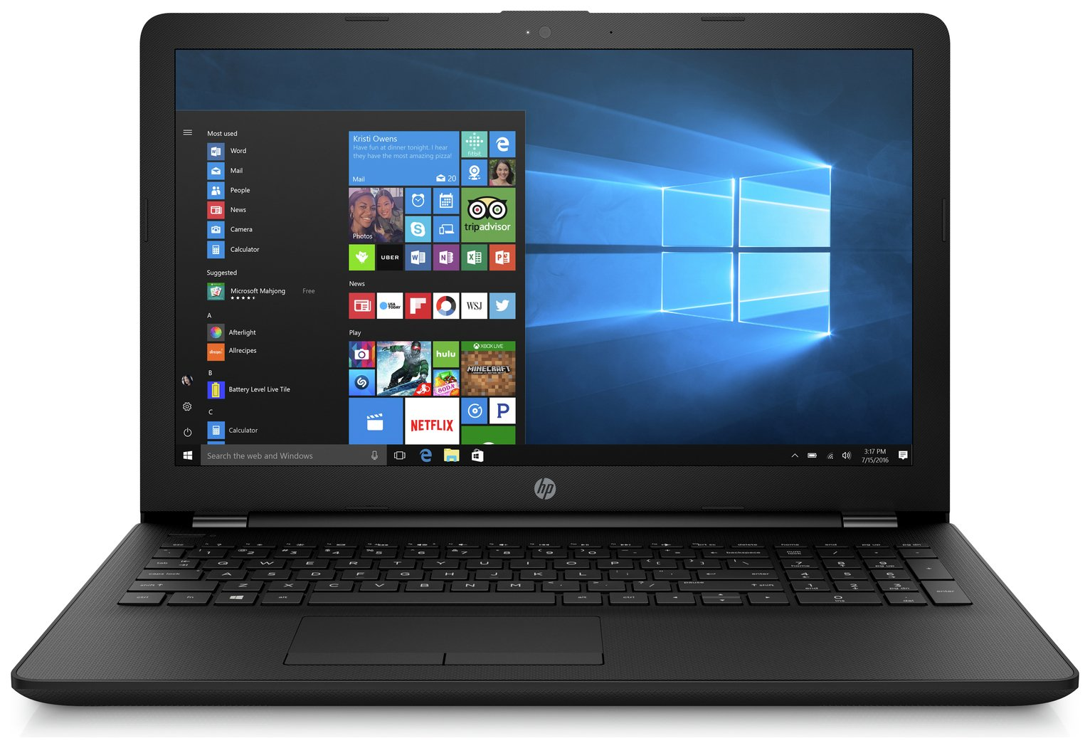 HP 15.6 Inch Intel Celeron 4GB 1TB Laptop - Grey