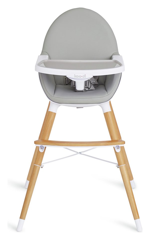 Koo-di Duo Wooden High Chair - Grey