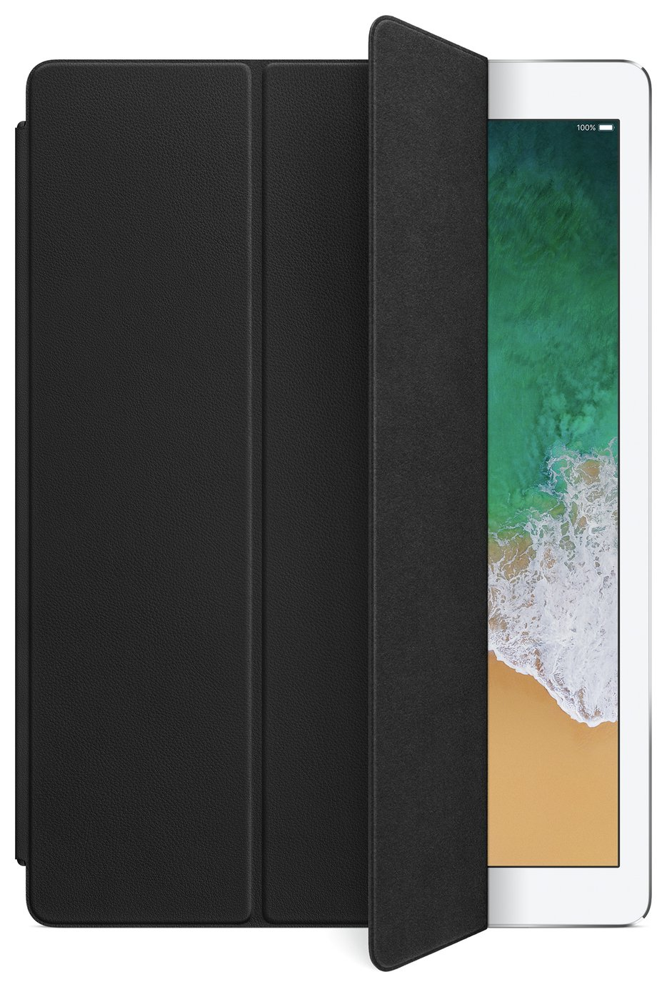 Image of Apple 12.9 Inch iPad Pro Leather Smart Cover - Black