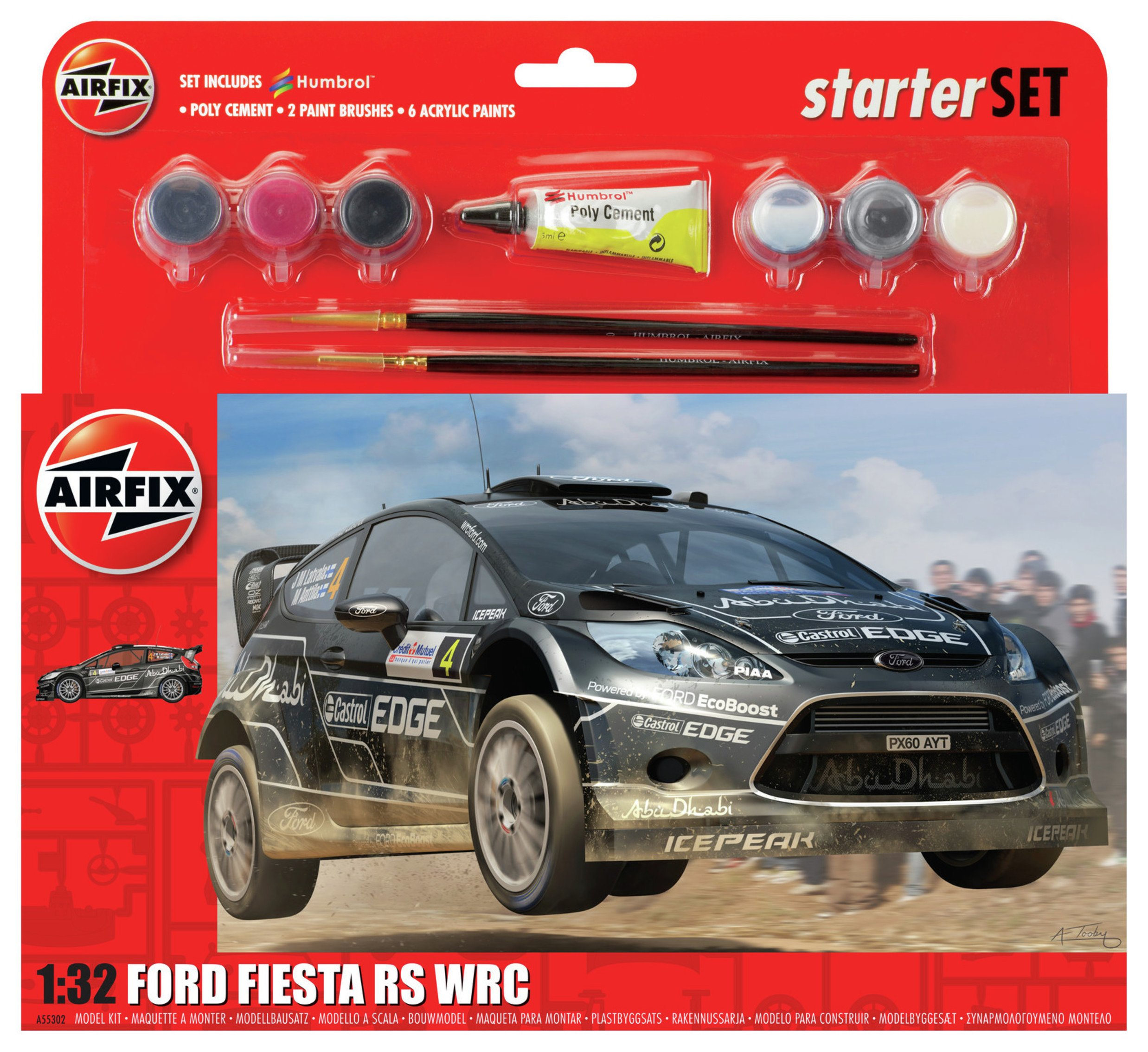 Image of Airfix Ford Fiesta WRC Starter Set