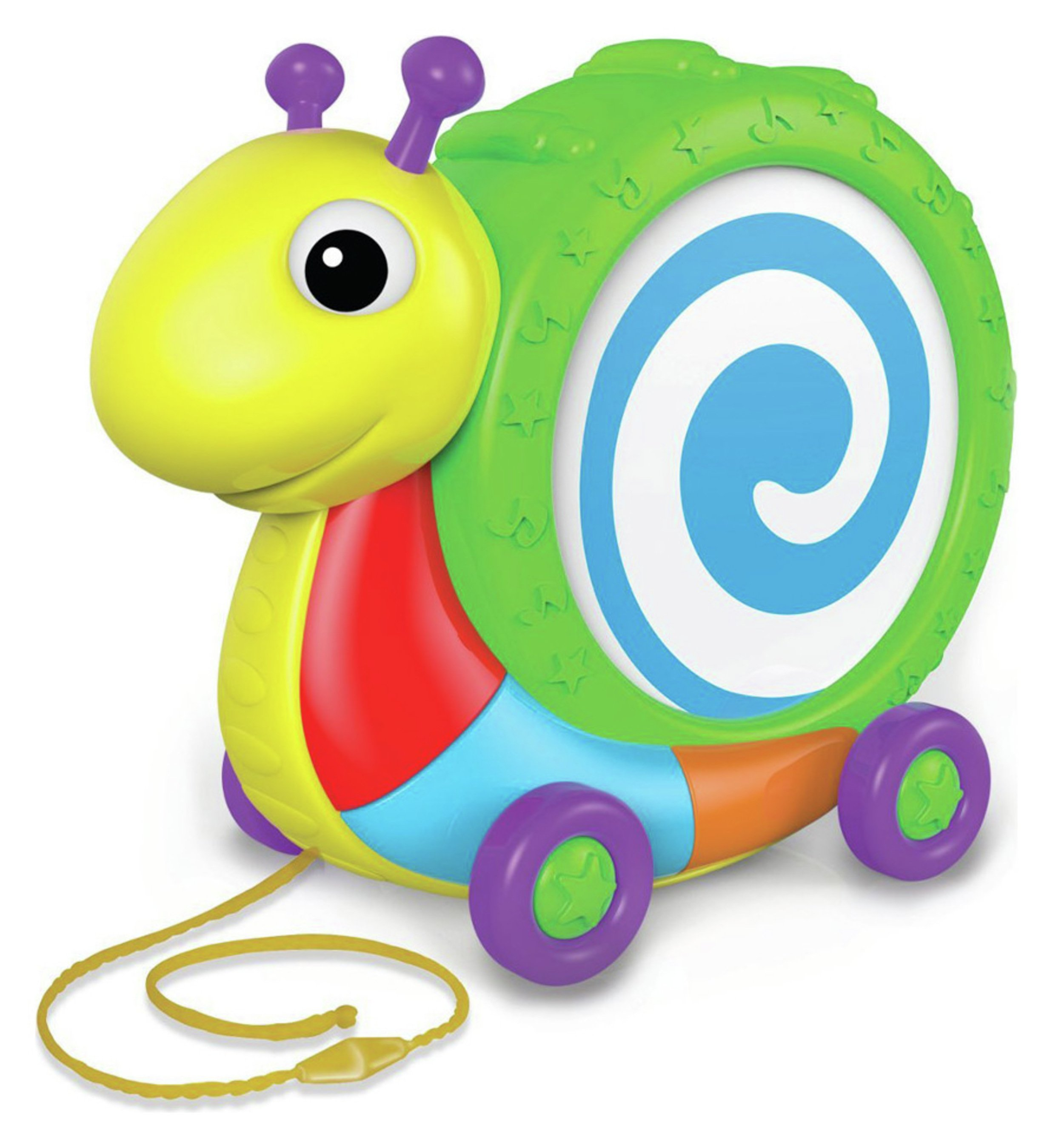 Image of Pull Along Snail Drum Playset.