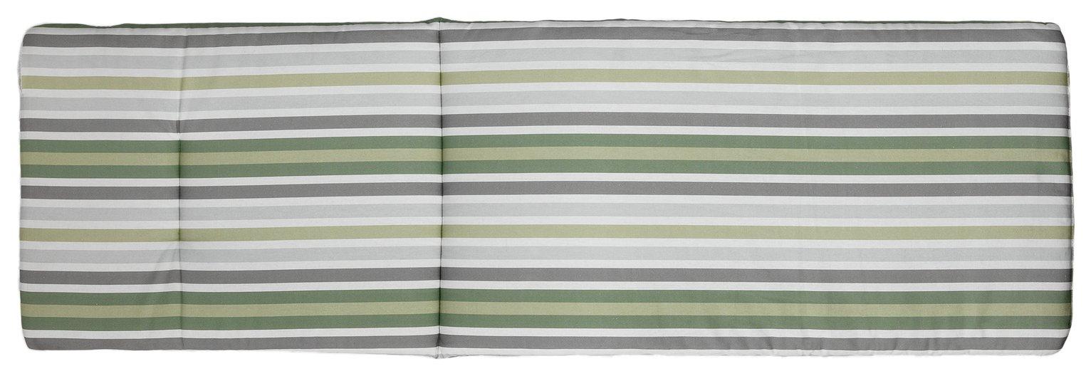 Argos Home Sun Lounger Green Stripe Cushion