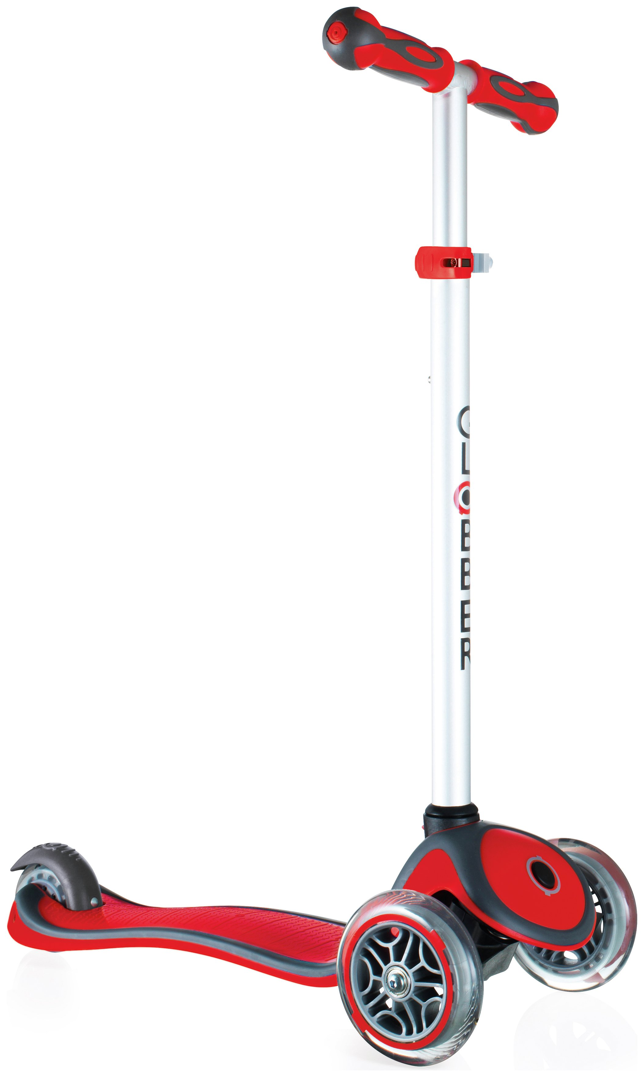 Globber Primo Plus 3 Wheel Scooter - Red