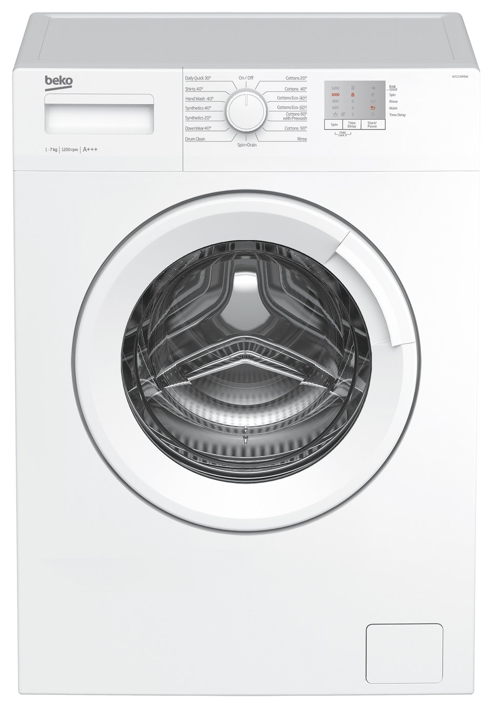 Beko WTG720M1W 7KG 1200 Spin Washing Machine - White Best Price, Cheapest Prices