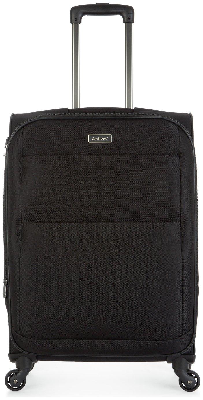 'Antler Tourlite Soft 4 Wheel Medium Suitcase - Black