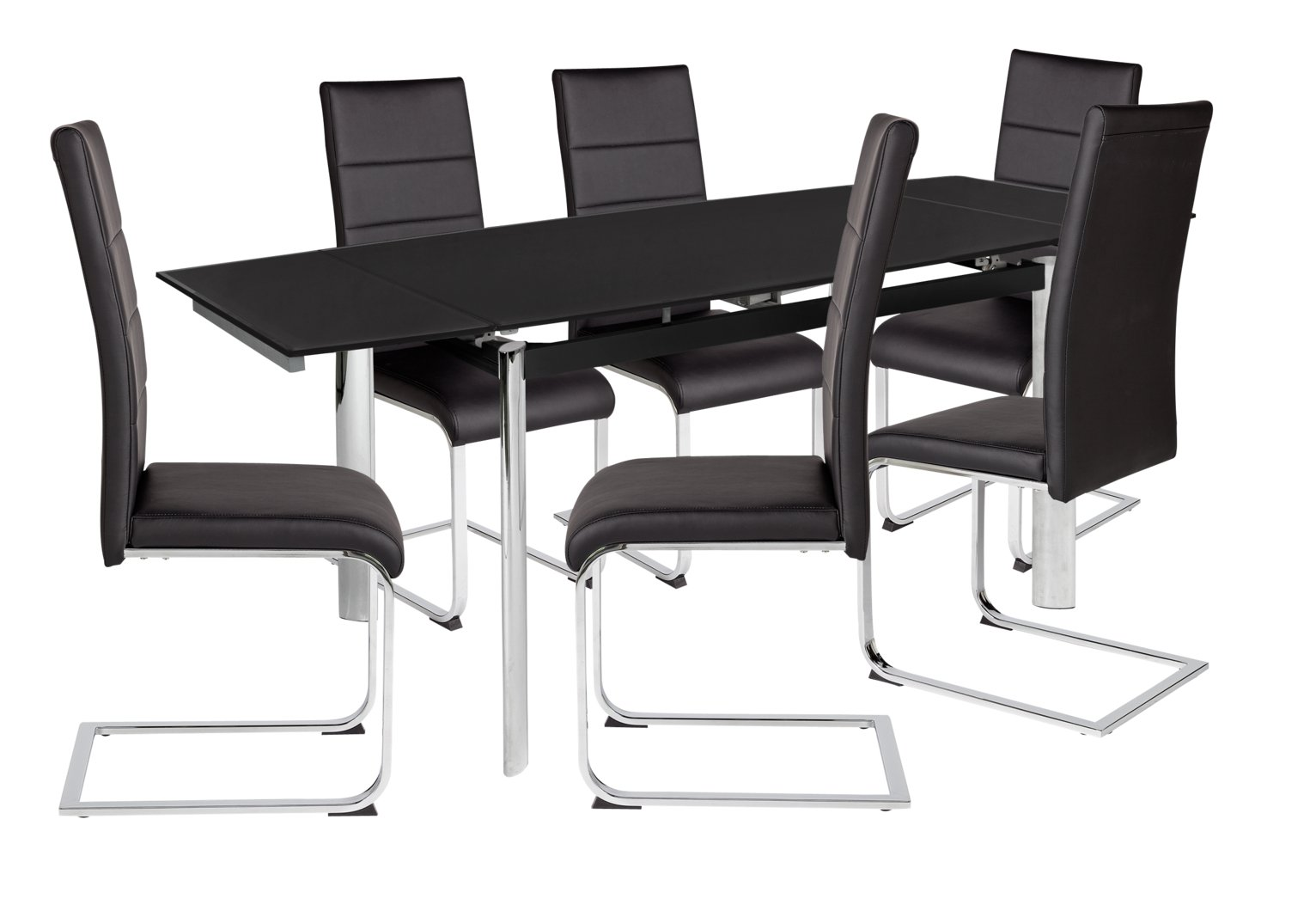 Space Saver Table And Chairs Argos: Review Of Hygena Erik Extendable Glass Table & 6 Chairs