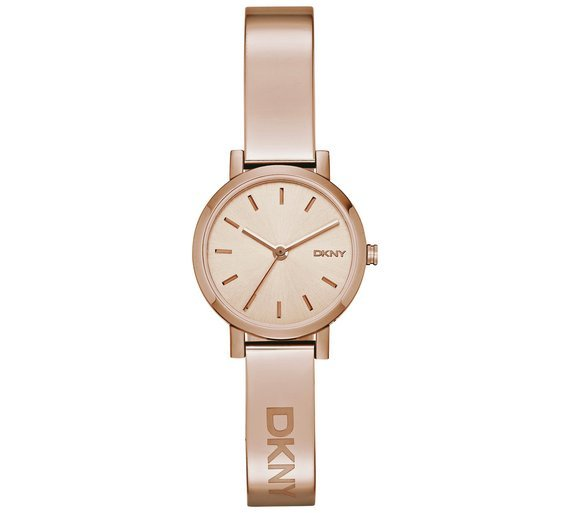 DKNY Ladies' Soho NY2308 Rose Gold Plated Bangle Watch