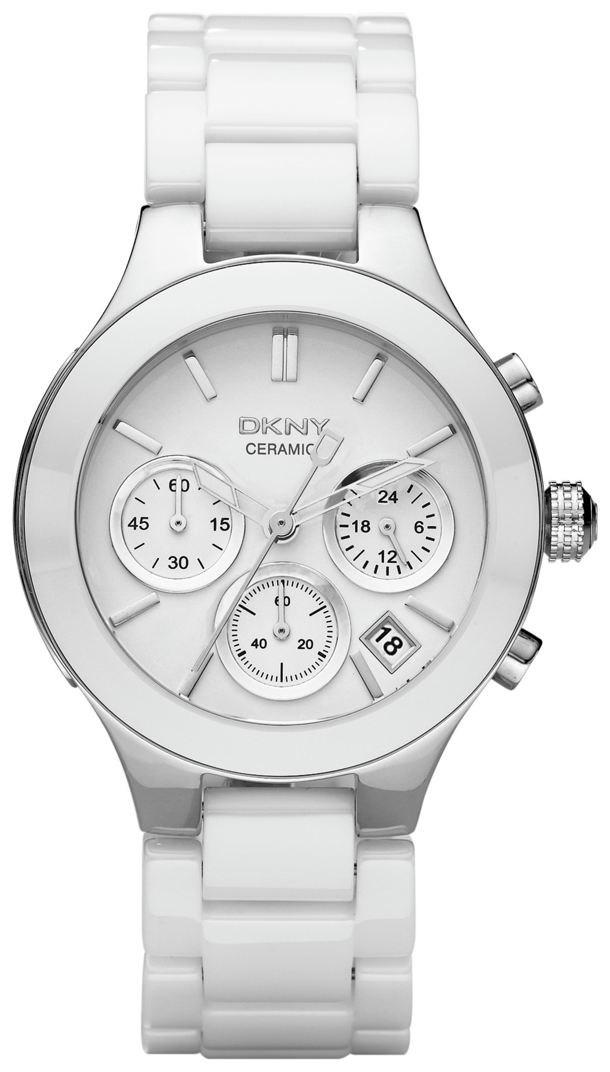 Image of DKNY Ladies' Chambers NY4912 Ceramic Chronograph Watch