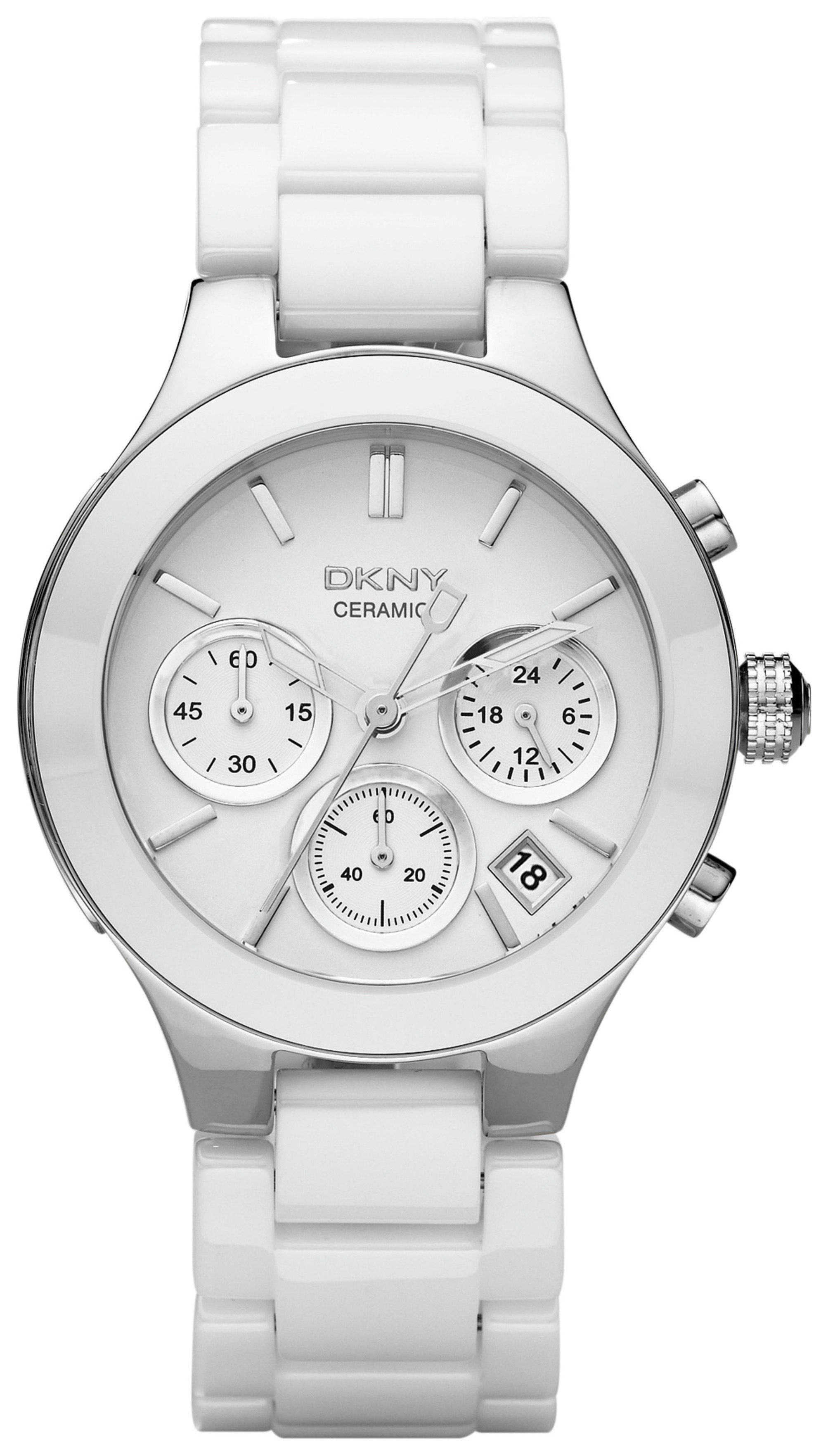 9c45e0296 DKNY Ladies' Chambers NY4912 Ceramic Chronograph Watch (7499944 ...