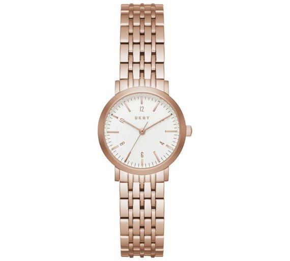 Buy DKNY Ladies  Minetta NY2511 Rose Tone Bracelet Watch ... 402683ed322