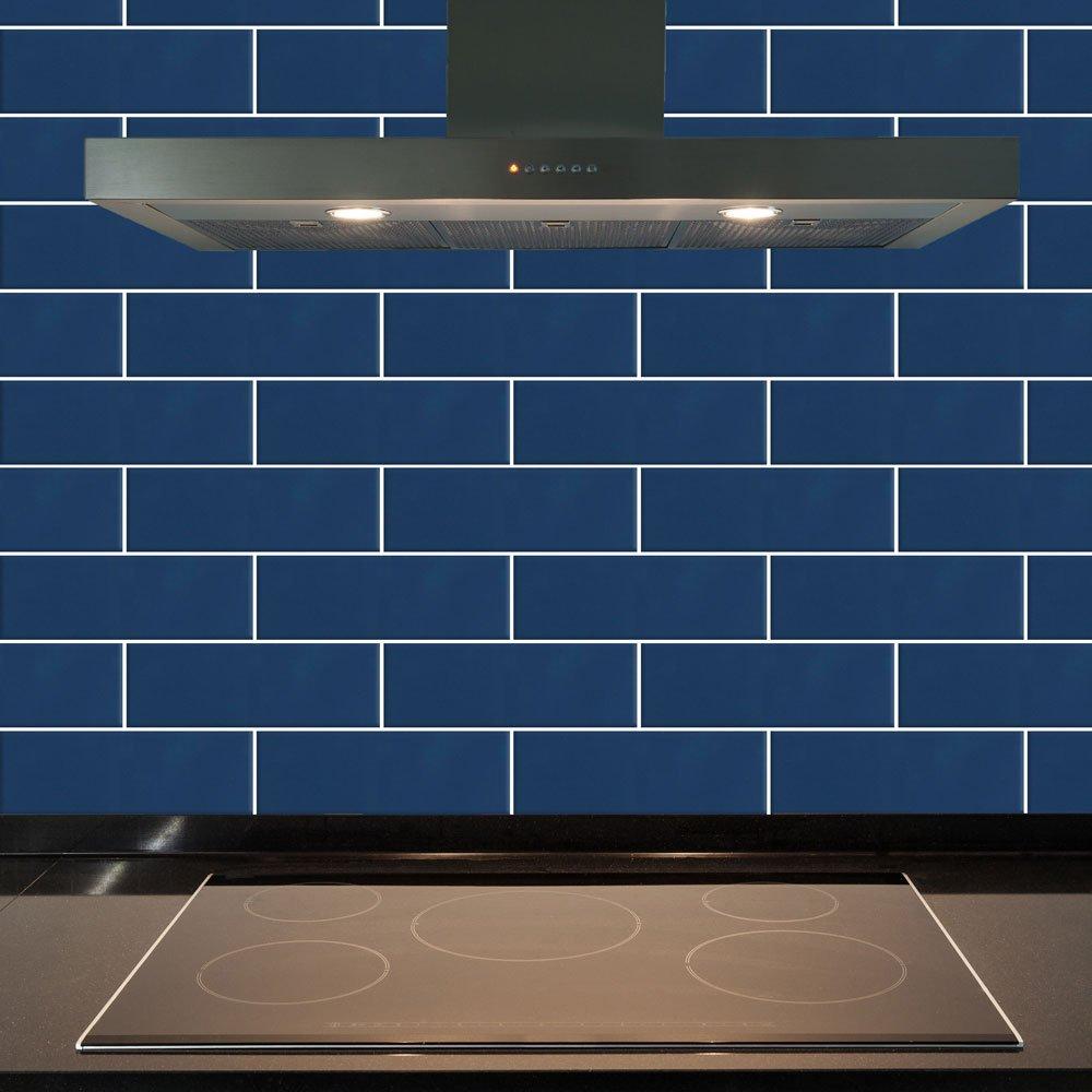 Image of Ceramic Wall Tile - Blue Gloss