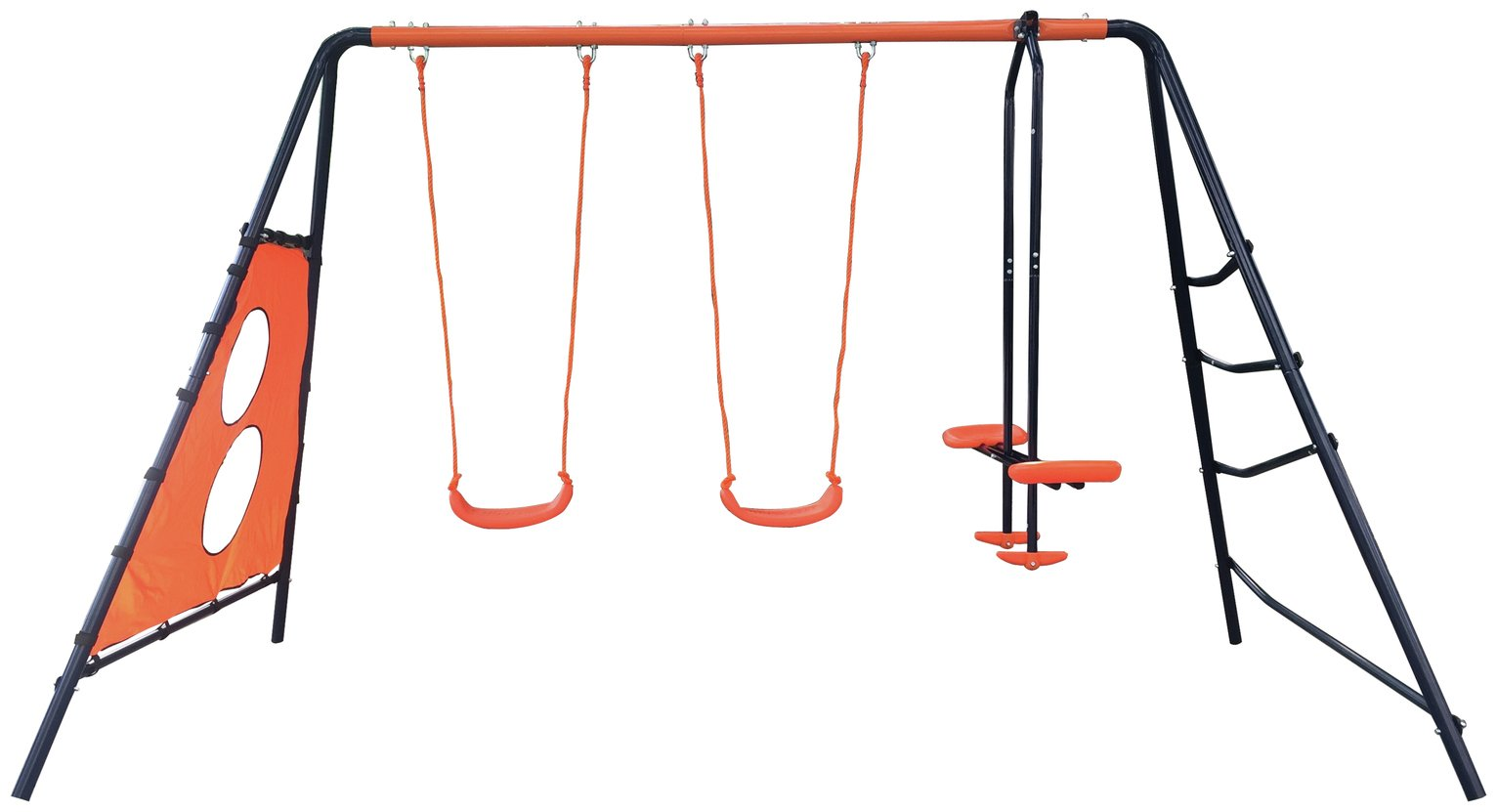 Hedsrom Ariel Multiplay Double Swing Set.