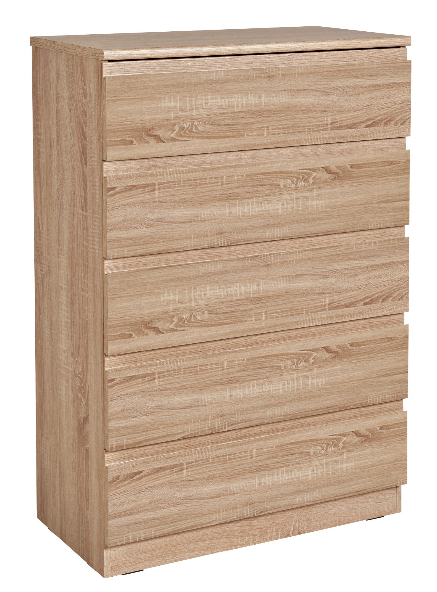 Image of Avenue 5 Drawer Chest - Brown Oak Effect