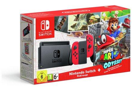 Nintendo Switch Console Bundle with Super Mario Odyssey